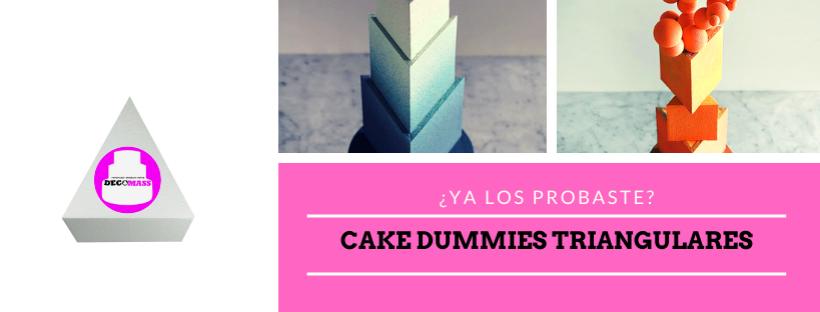 torta falsa triangular telgopor
