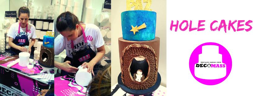 torta falsa telgopor hole cake decorada